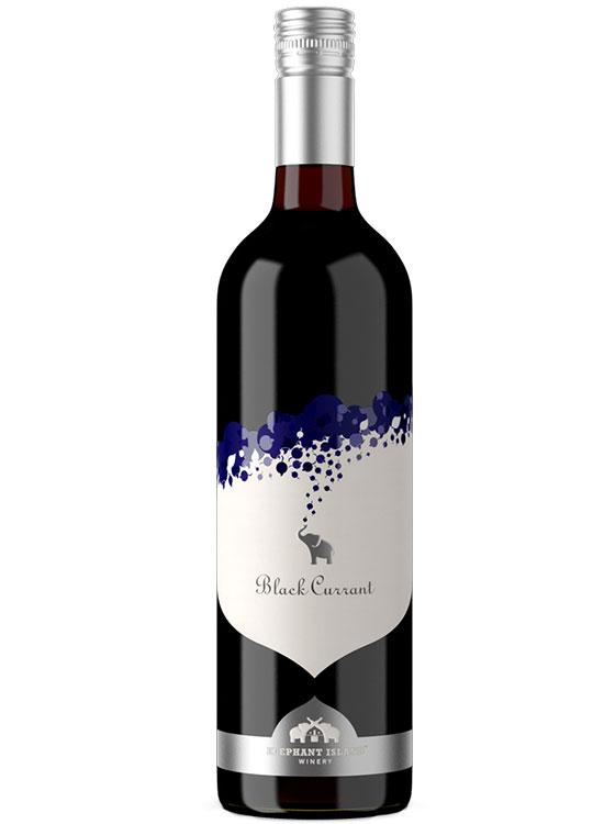 Bottle of Elephant Island Winery Black Currant