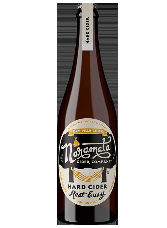 Bottle of Naramata Cider Company Dry Pear Cider