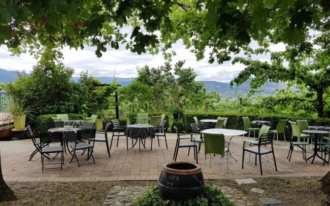 Patio at Elephant Island winery