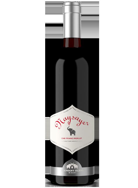 Bottle of Elephant Island Naysayer red blend wine